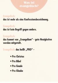 Was ist evangelisch?